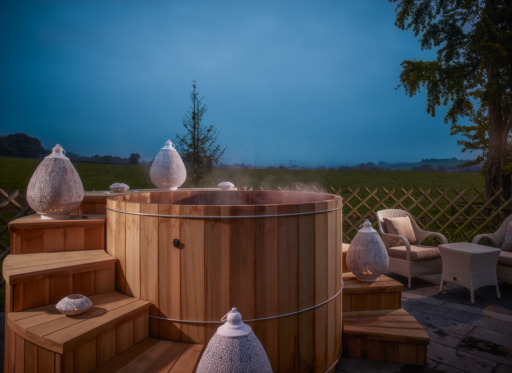 Hot-Tub-at-night-1-SPAshell-Fishmore-Hall-Copy-Copy Time To Unwind | Wellness Breaks