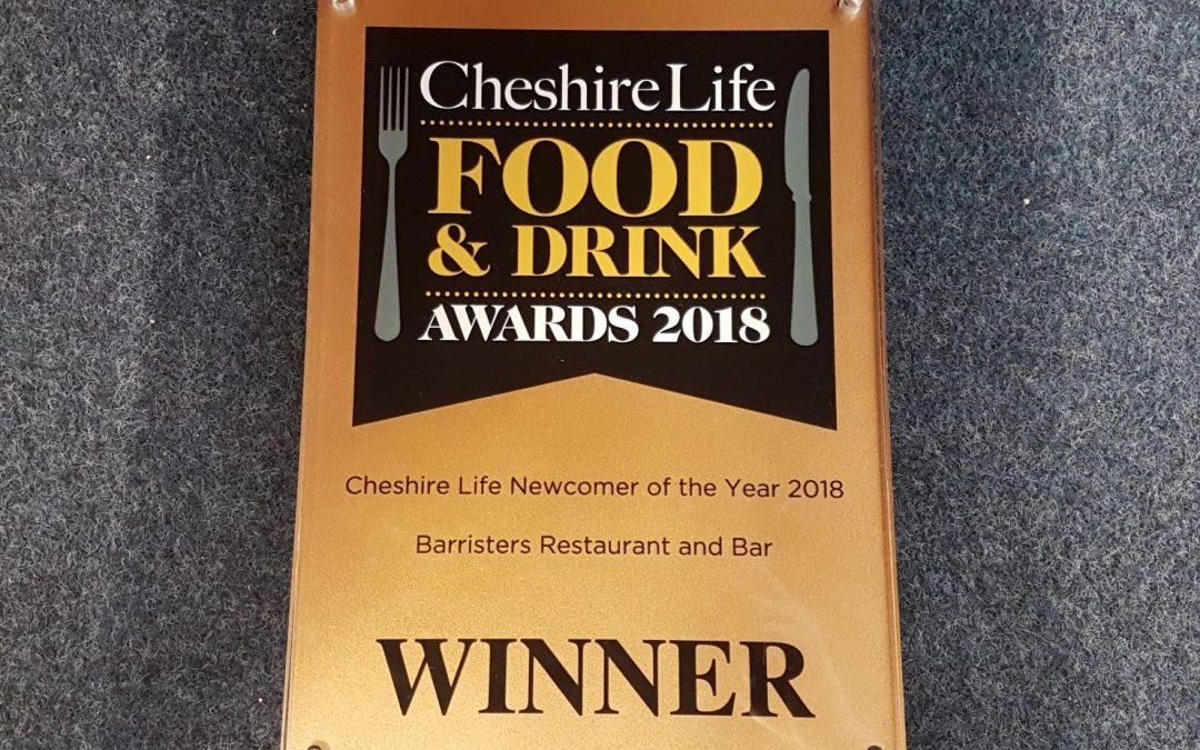 The Courthouse wins Best Newcomer at the Cheshire Life Food & Drink Awards