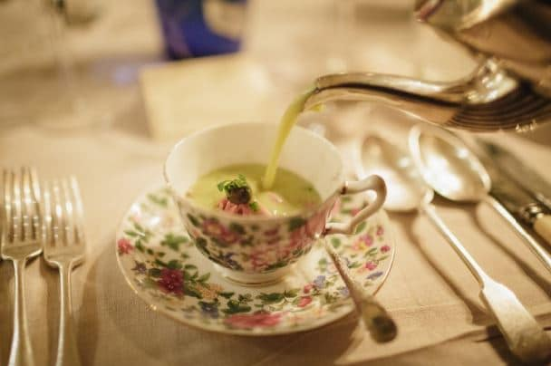 Wedding Food Trends | Soup Sips at Dewsall