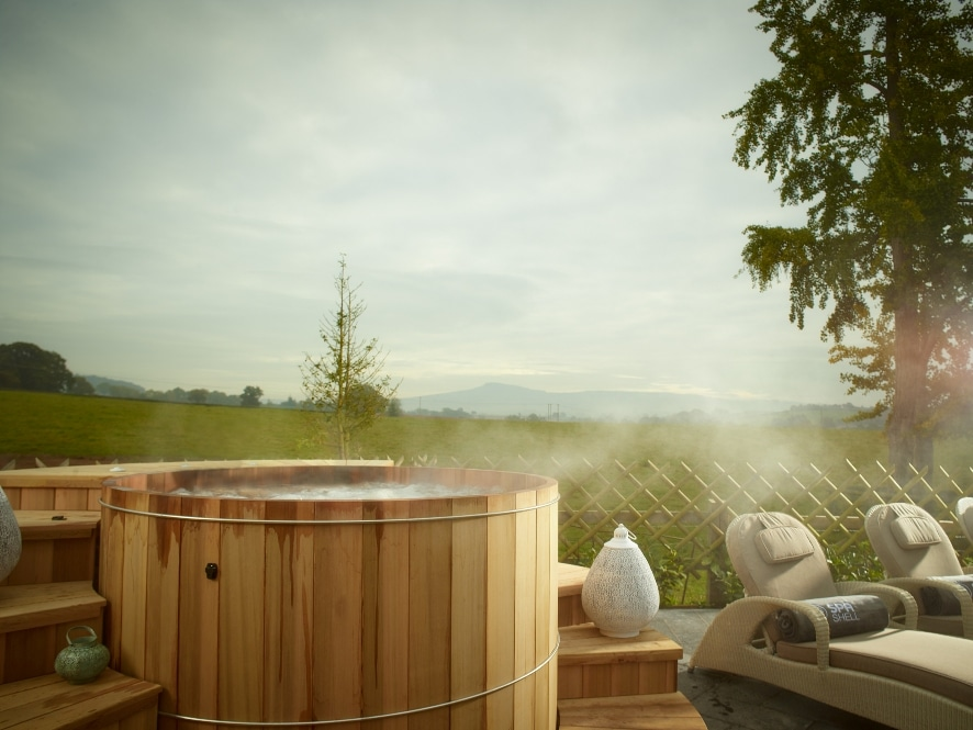 SPAshell-at-Fishmore-hot-tub Time To Unwind! Spa Getaways